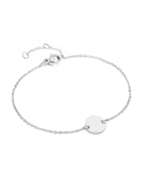 Fashion Steel Color Middle Round Chain Adjustable Bracelet