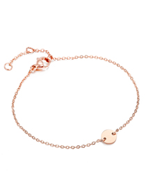 Fashion Rose Gold Small Round Adjustable Chain Bracelet