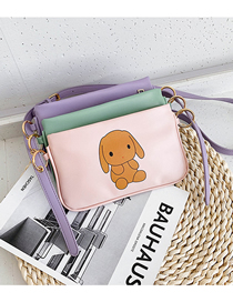 Fashion Pink Cartoon Printed Soft Triplet Shoulder Bag
