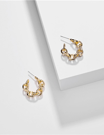 Fashion Gold Alloy Hollow Twist Chain C Earrings
