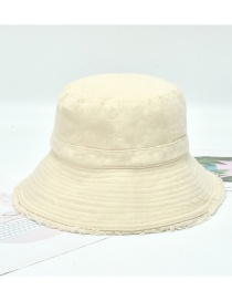 Fashion Beige Unfinished Shading Solid Color Fisherman Hat
