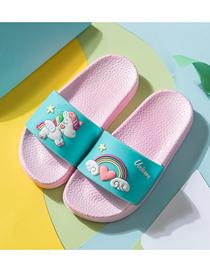Fashion Blue Unicorn Slippers Rainbow Unicorn Children S Sandals And Slippers