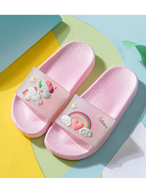 Fashion Transparent Band Unicorn Slippers Rainbow Unicorn Children S Sandals And Slippers