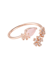 Fashion Ring Models Jade Micro Zircon Butterfly Earring Ring Necklace