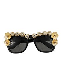 Gafas De Sol Cuadradas De Resina De Flor De Diamante