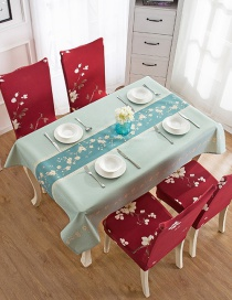 Fashion Summer Flower (120 * 120cm Without Chair Cover) Printed Dustproof And Waterproof Household Tablecloth