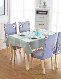 Fashion Winter Flower (120 * 160cm Without Chair Cover) Printed Dustproof And Waterproof Household Tablecloth
