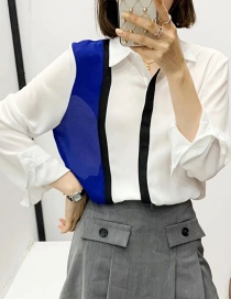 Fashion White Long Sleeve Shirt With Contrast Stitching