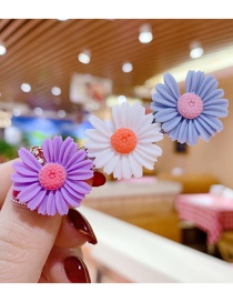 Fashion Purple + White + Blue Little Zou Ju Hit The Color Resin Alloy Hairpin Set