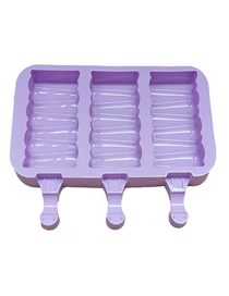 Fashion 3 Purple Blocks Diy Silicone Ice Cream Mold Box