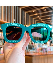 Fashion Green Children's Sunglasses With Anti-ultraviolet Letters