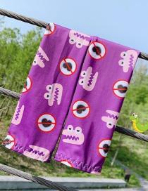 Fashion Baby Crocodile Ultra-thin Sunscreen Printed Animal Flower Fruit Children Ice Sleeve
