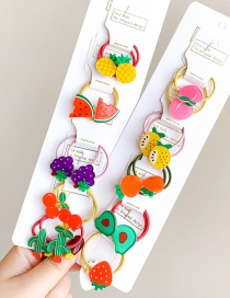 Fashion 20 Strawberry Avocados Candy Animal Fruit Flower Contrast Color Hair Rope