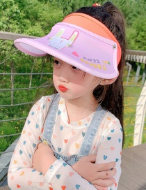 Fashion Pink Bunny 2 Years Old-12 Years Old Animal Color Stitching Adjustable Children S Sun Hat (45cm-61cm)