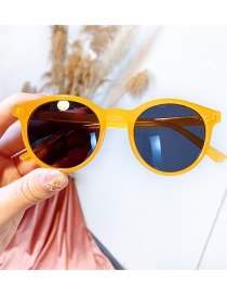 Fashion Yellow Frame Anti-uv Resin Geometric Children S Sunglasses