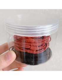 Fashion 10 Red 10 Black High Elasticity Thick And Durable Solid Color Hair Rope