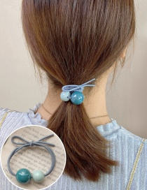 Fashion Green Blue Resin Ball Knotted High Elastic Hair Rope