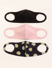 Fashion Pink + Black Three Thin Masks With No Trace Of Sponge And Dustproof 3d Upgraded Version