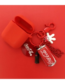 Fashion Ice Cube Section + Red Earphone Cover Coke Bluetooth Wireless Headset Silicone Case