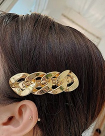 Fashion Golden Hair Clip Metal Chain Alloy Hairpin Hair Rope