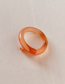 Fashion Orange (no. 7) Acrylic Resin Cross Ring