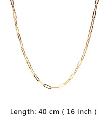 Fashion Gold 40cm Thick Chain Stainless Steel Hollow Necklace