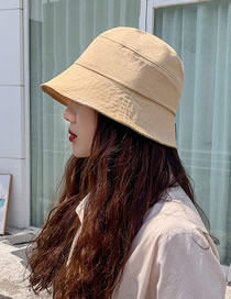 Fashion Beige Sunshade Sunscreen Solid Color Fisherman Hat