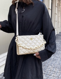Fashion White Chain Quilted Shoulder Bag
