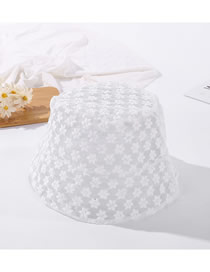 Fashion White Lace Shading Thin Breathable Little Flower Fisherman Hat