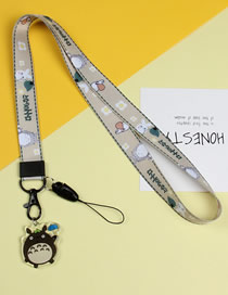 Fashion Totoro Mobile Phone Lanyard With Printed Animal Broadband Braid