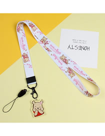 Fashion Beverney Mobile Phone Lanyard With Printed Animal Broadband Braid