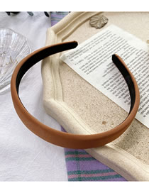 Fashion Caramel Colour Sponge Solid Color Wide-brimmed Fabric Headband