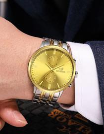 Reloj De Cuarzo Con Esfera Grande Y Correa De Acero Para Hombre