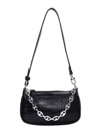 Fashion Black Chain Crocodile Shoulder Bag