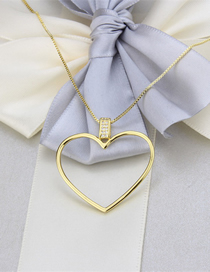 Fashion Gold-plated Copper Plating With Diamond Love Hollow Alloy Necklace