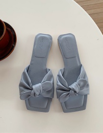 Fashion Blue Flat Sandals With Bow