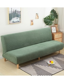 Fashion Cypress Green Solid Color Corn Wool All-inclusive Dustproof Stretch Sofa Cover