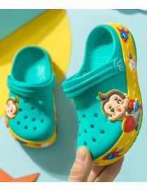 Fashion Fruit Green Monkey Monkey Rabbit Hit Color Childrens Hole Sandals And Slippers