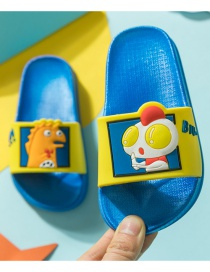Fashion Royal Blue Ultraman Hit Monster Asymmetric Childrens Sandals And Slippers