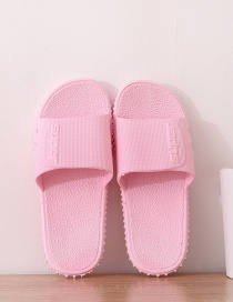 Fashion Female Pink Alphabet Couple Non-slip Sandals And Slippers