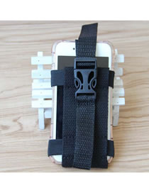 Fashion Black Sport Running Buckle Arm Bag