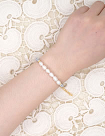 Fashion White Watermelon Beads Hand-woven Natural Freshwater Pearl Bracelet