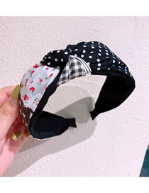 Fashion Floral + Little Small Floral Cotton Stitching Middle Twisted Wide-brimmed Hair Band