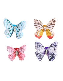 Fashion Color Mixing Butterfly Alloy Hairpin