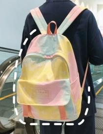 Fashion Yellow Belt Pendant Gradient Nylon Backpack