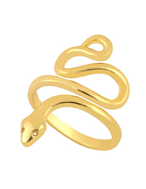 Fashion Golden Serpentine Diamond Hollow Alloy Ring