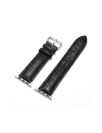 Fashion Black Applicable Apple Watch Alligator Leather Strap