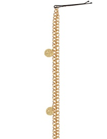 Fashion Round Gold Round Embossed Gold-plated Chuck Chain