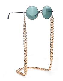 Fashion Golden Color-preserving Thick Chain Anti-skid Glasses Chain