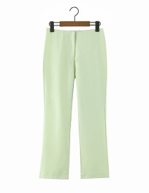 Fashion Green Loose Long Solid Color Straight Pants